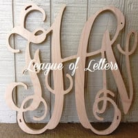 10 inch Wooden Monogram Letters