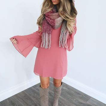 The Right Look Dress: Dusty Rose