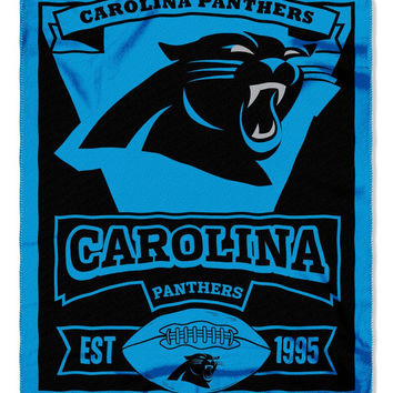 Carolina Panthers 50x60 Fleece Blanket - Marque Design