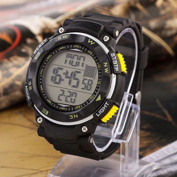 Noctilucent Multi-functioned Watch Stylish Fashion Casual Waterproof Digital Watch [8863745735]