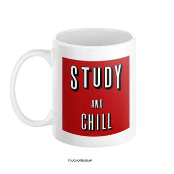 Netflix And Chill Remake Study Ceramic Mug - Perfect School Student College Campus Humor Gift For Bae / Boyrfiend / Girlfriend / Bestfriend