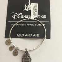 Disney Alex and Ani Parks Haunted Mansion Logo Bangle Silver Finish New Tags