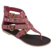 Brinley Co Womens T-strap Gladiator Sandals: Shoes