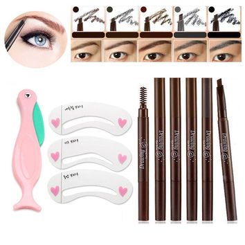 Makeup Set Eyebrow Pencil Waterproof Painting Eyebrow Stencils Mold Eye Brow Drawing Templet Eyebrow Beauty Makeup Accessories