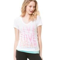 Neon Gradient V-Neck Lounge Tee