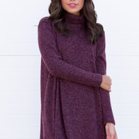 Marquis Knit Dress- Wine