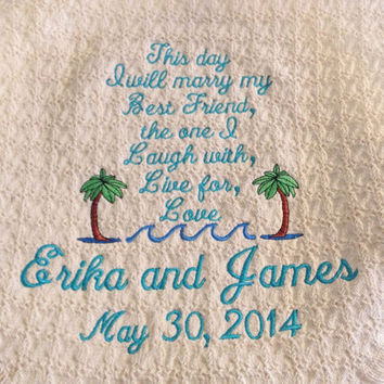 Personalized Wedding Throw Blanket Gift  This Day I will Marry My Best Friend
