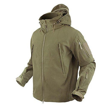 Summit Softshell Jacket Color- Tan (Small)