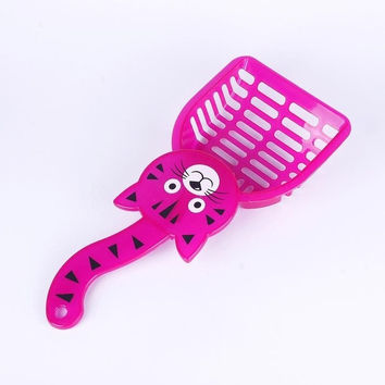 Cute Plastic Litter Scoop Pet Cat Kitten Sand Waste Scooper Shovel Cleaning Tool (Size: 28cm by 12.5cm) = 1930080452