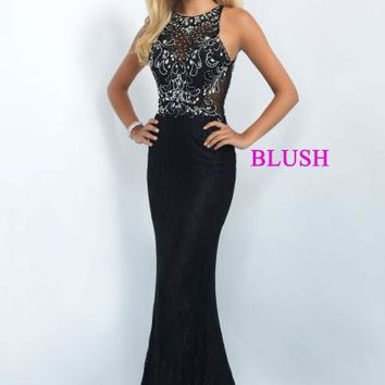 Blush Long Fitted Dress 11111