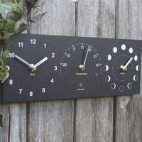 Eco Moon, Time And Thermometer Clock