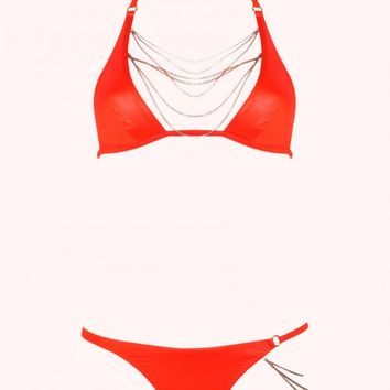 Tonya Bikini Bottoms Orange