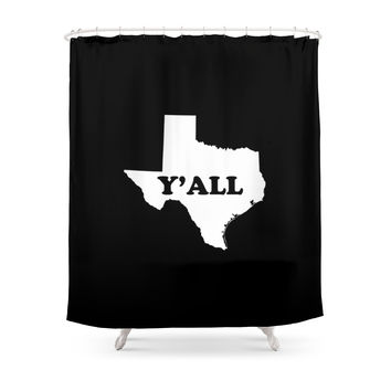 Society6 Texas Yall Shower Curtains