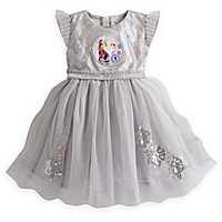 Anna and Elsa Deluxe Party Dress for Girls - Frozen