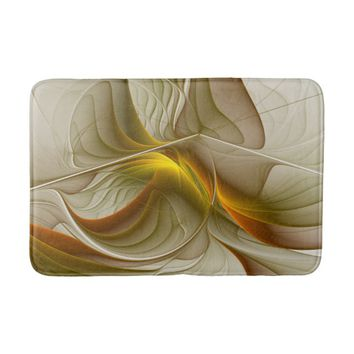 Colors of Precious Metals, Abstract Fractal Art Bathroom Mat