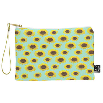 Allyson Johnson Sunflower Pattern Pouch