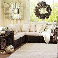 Seagrass 5-Piece Sectional   Pottery Barn