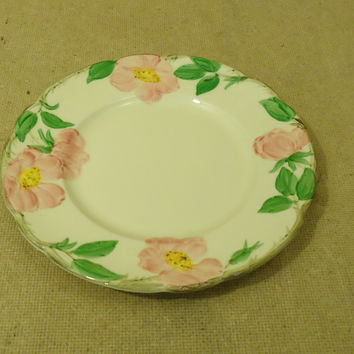 Franciscan Vintage Salad Plate 8in Floral Desert Rose USA Earthenware -- Used
