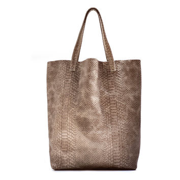 Demente North South Tote Taupe