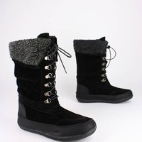 lace-up shearling trim boot $32.70 in BLACK NAT - New Shoes | GoJane.com