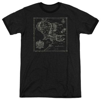 Lord Of The Rings - Map Of Me Adult Ringer