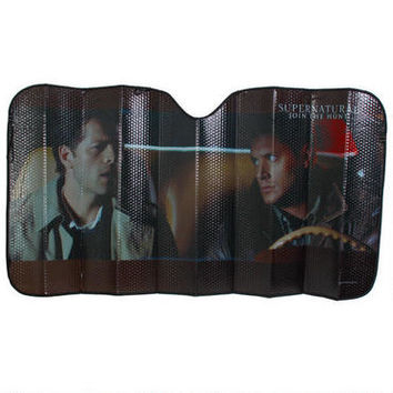 supernatural car sun shade from want. Black Bedroom Furniture Sets. Home Design Ideas