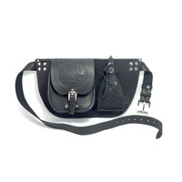 Leather hip bag with pouch