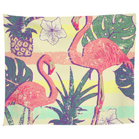 Flamingos and Pineapples Tapestry