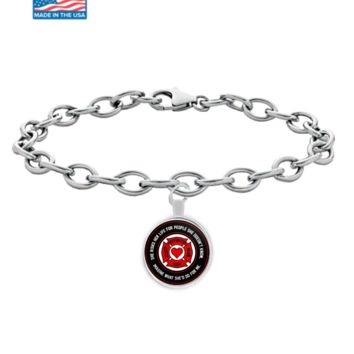 Firefighters - Mom - She Risks Her Life For People She Doesn't Know, Imagine What She'd Do For Me. - Bracelet