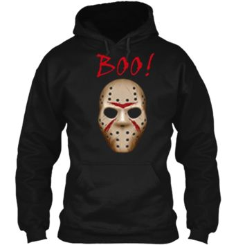 Boo  Halloween Costume Jason Mask  Pullover Hoodie 8 oz