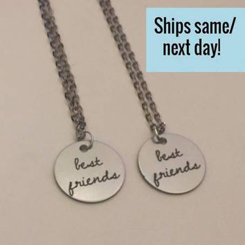 Best Friend Necklaces, Best Friend Gift, Best Friends, Best Friend Quote, Necklace Set, Christmas Gift, Stocking Stuffer, Gift for Her
