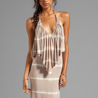 Young, Fabulous & Broke Ciara Skinny Stripe Maxi in Sand from REVOLVEclothing.com