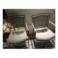 Snow Covered Chairs Postcard