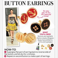 I Spy DIY: [InStyle DIY] Nautical Button Earrings