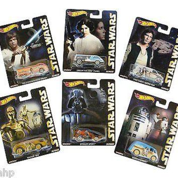 Set Of 6 Hot Wheels Pop Culture Star Wars NEW
