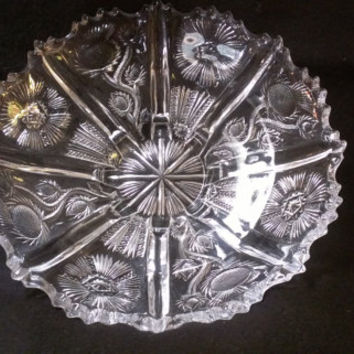 Pressed Glass Fruit or Serving Bowl  (643)