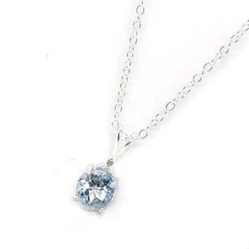 ON SALE - Genuine Blue Topaz & Natural Diamond Accented IOBI Precious Gems Necklace