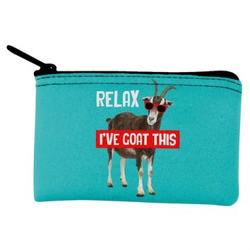 Relax I've Goat Got This Coin Purse