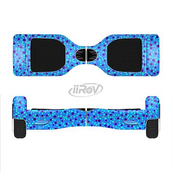 The Small Scattered Polka Dots of Blue Full-Body Skin Set for the Smart Drifting SuperCharged iiRov HoverBoard
