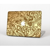 The Vintage Antique Gold Vector Pattern Skin Set for the Apple MacBook Air 11""