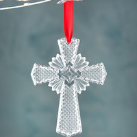 Annual Cross Christmas Ornament - Waterford Crystal