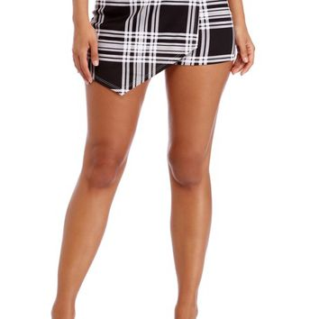 Black Prepped In Plaid Skort