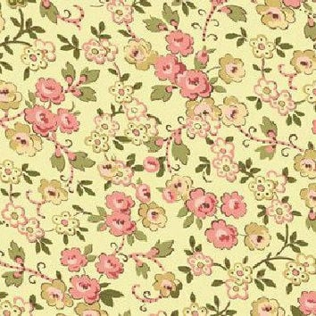 Fabric, Quilt Fabric, Cotton Fabric, Floral Fabric, Quilting Fabric, Quilting Treasures, Flowers, Pink Flowers, Cream Background, Sewing