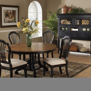 Hillsdale 5-Piece Round Dining Set w/Side Chairs