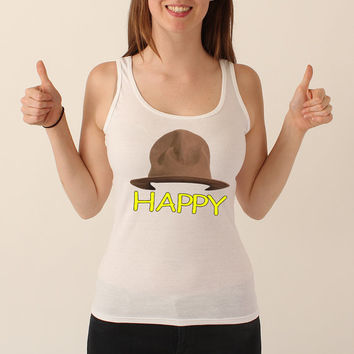 Happy Women's Tank Top Inspired by Pharrel Williams 002