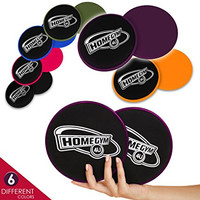 HomeGym 4U Gliding Discs Set - Dual Sided Abdominal Sliders for Carpet or Hardwood Floor - Greatest Core Trainer Fitness Equipment for Full Body Workout, Crossfit Routine, Cardio Training