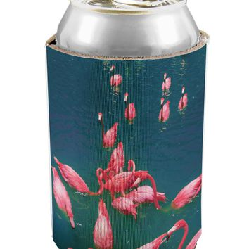 Bright Pink Painted Flamingos Can / Bottle Insulator Coolers All Over Print