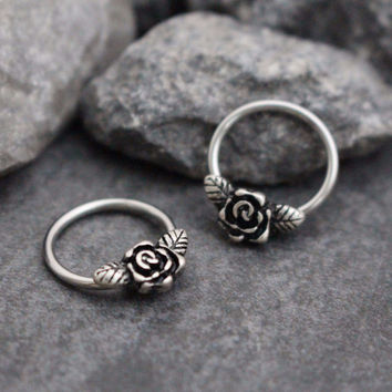 Rose Captive Bead Ring