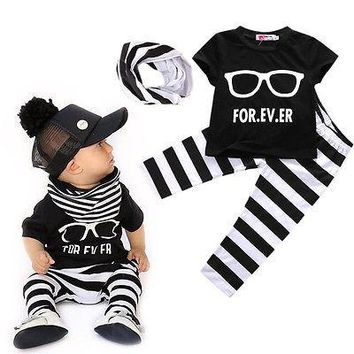 """""""Forever"""" Baby Boys Sunglasses and Stripes Set"""