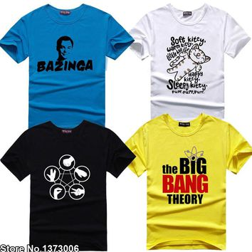 The Big Bang Theory Fan T-shirt Sheldon Cooper T Shirts Science Geek Tee Tshirt Men Women Unisex TBBT